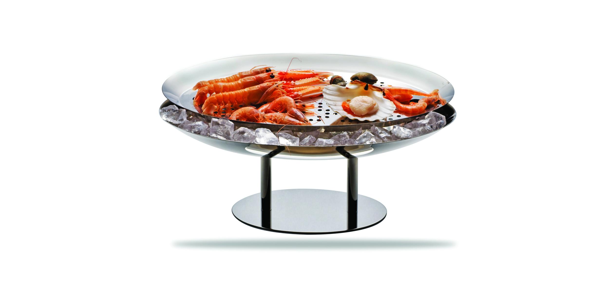 Marinated fish holder oval