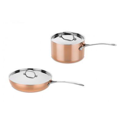 Toscana: Copper frying pan and saucepan